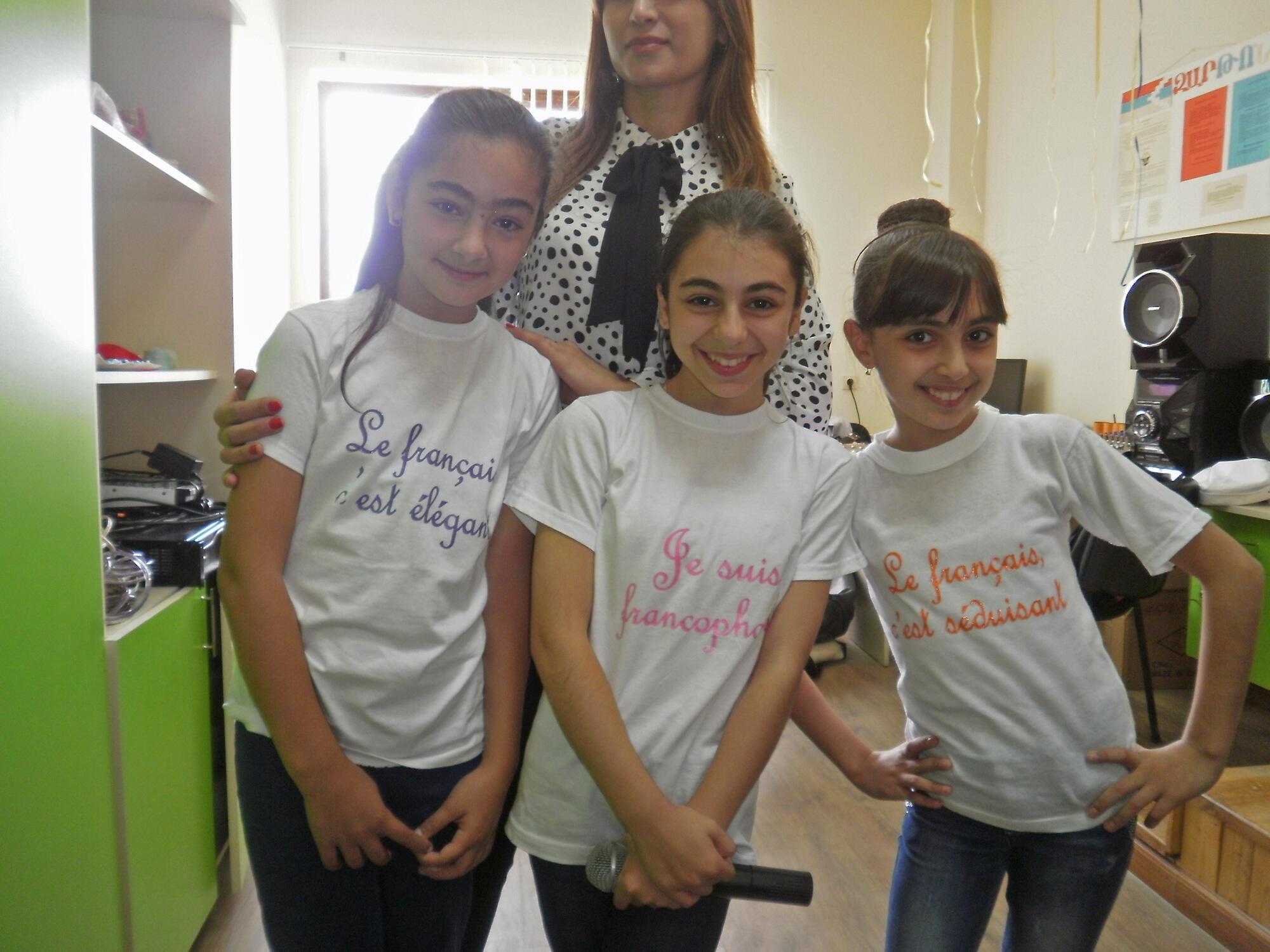 Elèves francophones à l'école n°1 de Stepanakert.