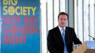 """Le Premier ministre britannique, David Cameron et son concept de """"Big Society""""."""