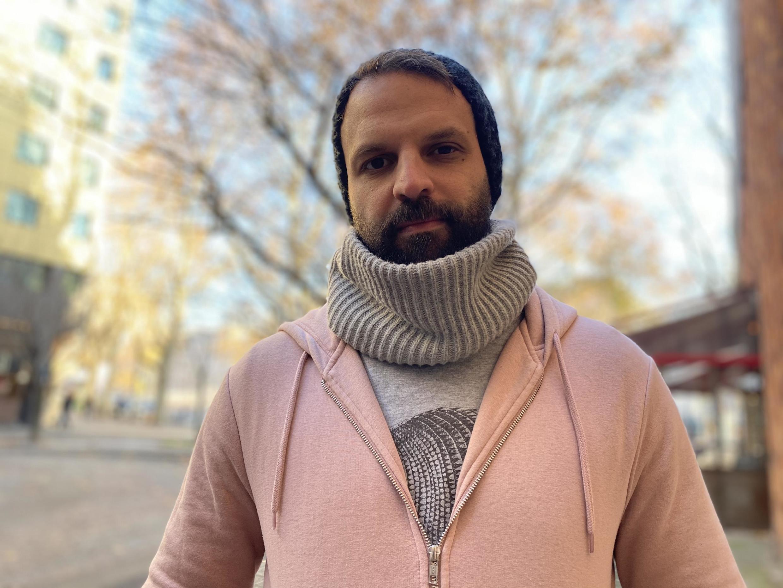 """David Murad, realizador de """"Declaração"""". Paris, 2 de Dezembro de 2019."""