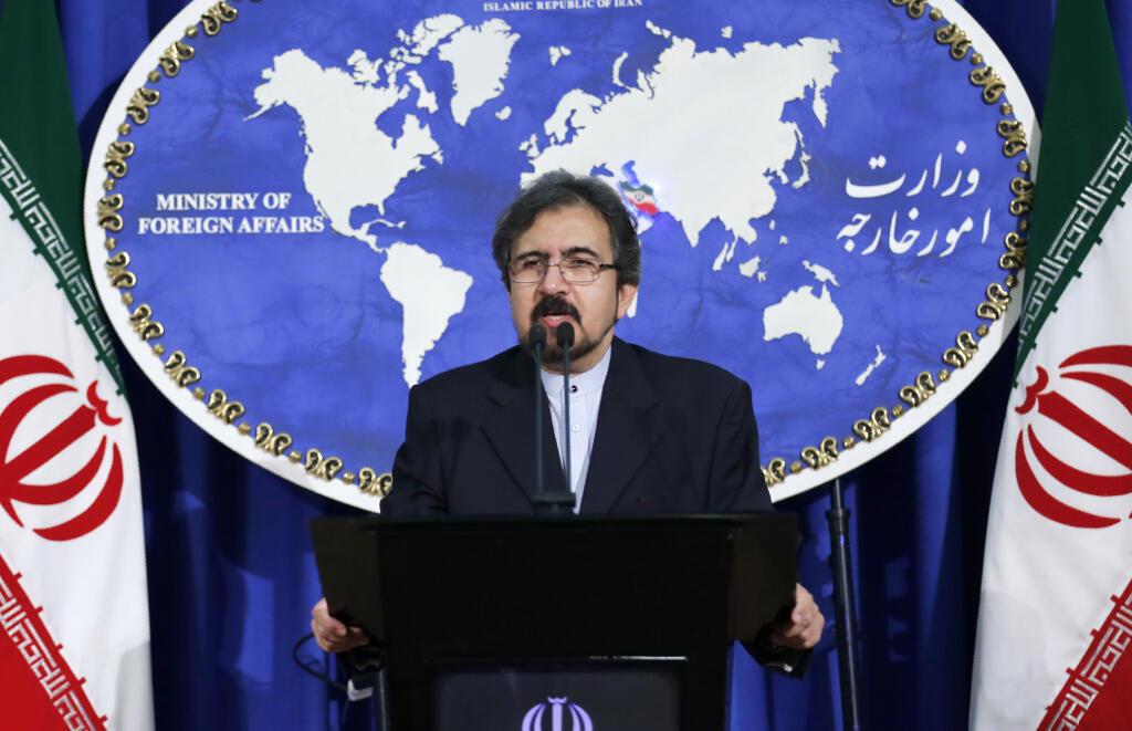 Phát ngôn viên Bộ Ngoại Giao Iran, Bahram Ghasemi, tuyên bố tạm đình chỉ việc cho phi cơ Nga cất cánh từ sân bay Iran qua ném bom tại Syria, ngày 22/08/2016.