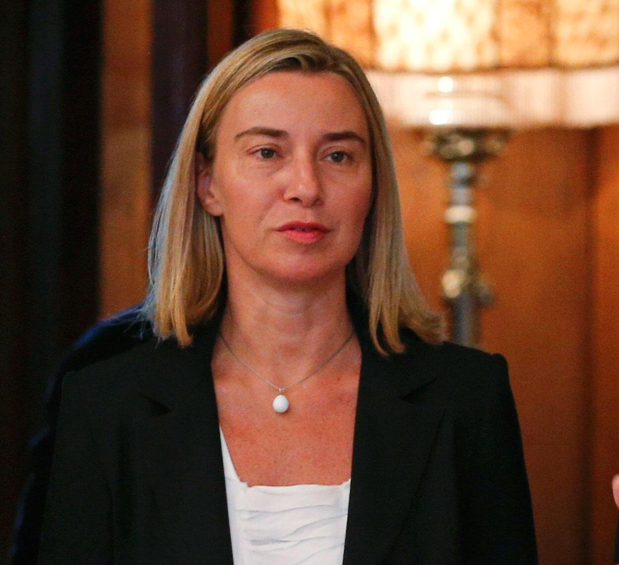 A ministra italiana das Relações Exteriores, Federica Mogherini.