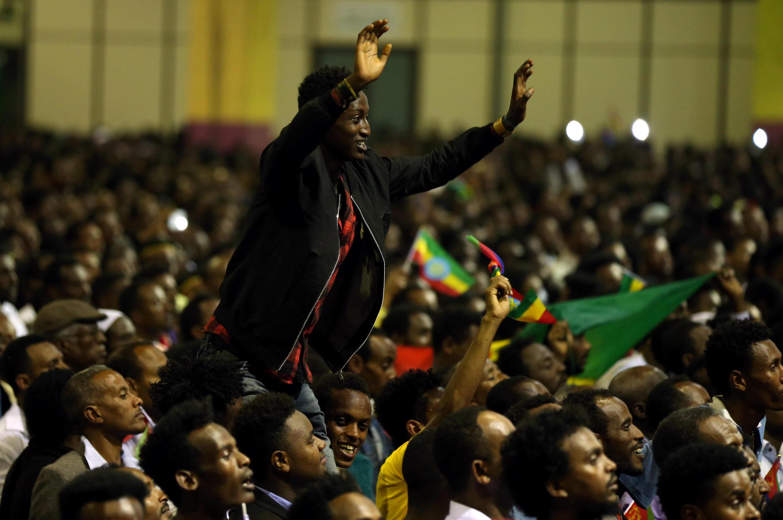Le public est venu en nombre au concert donné en l'honneur d'Issayas Afewerki à Addis-Abeba, dimanche 15 juillet 2018.