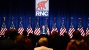 Donald Trump lors de son discours à la convention républicaine, à Charlotte, en Caroline du Nord, le 24 août 2020.