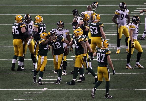 Lors du Super Bowl 2011.