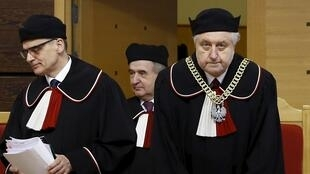 Andrzej Rzeplinski (D), le président du Tribunal constitutionnel polonais, le 8 mars 2016.