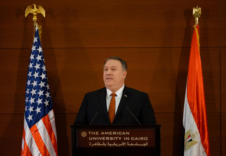 Ngoại trưởng Mỹ Mike Pompeo tại Cairo, ngày 10/01/2019.