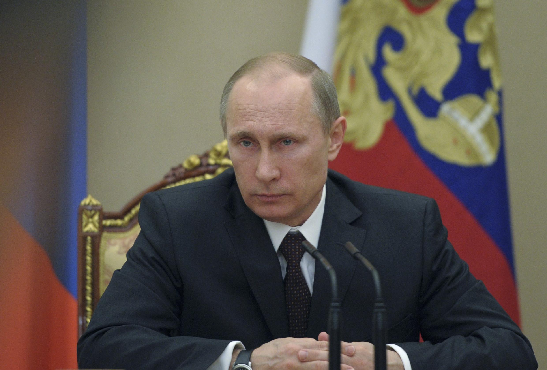 Rais wa Urusi, Vladimir Poutine akizungumzia kuhusu mzozo wa Ukraine.