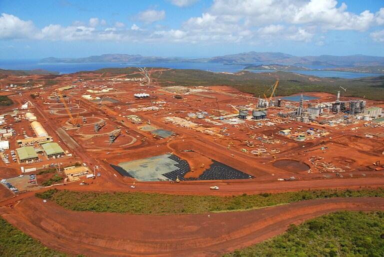 Le site de Goro, en Nouvelle-Calédonie.