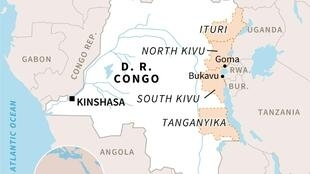 Taswirar Afrika mai nuna Jamhuriyar Dimokaradiyyar Congo.