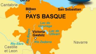 Carte du pays basque espagnol.
