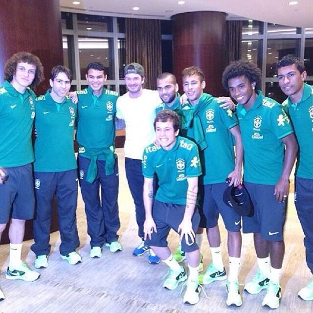 David Beckham e a Seleção brasileira