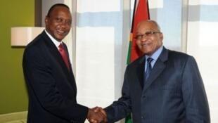Shugaban Kenya Uhuru Kenyatta da takwaransa na Afrika ta Kudu, Jacob Zuma