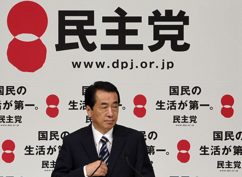 Thủ tướng Naoto Kan trong cuộc họp báo ngày 14/09/201 tại Tokyo