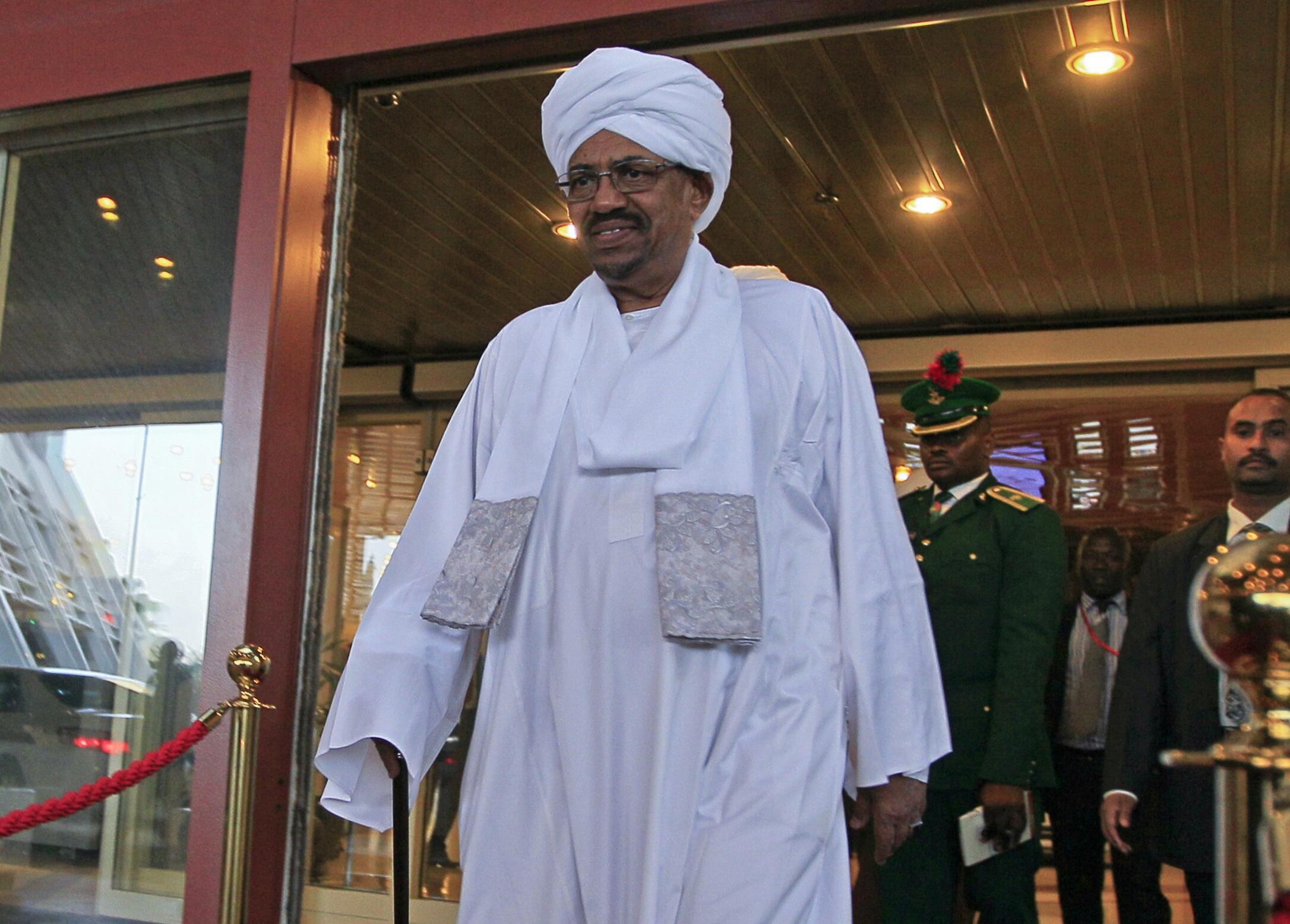 Shugaban kasar Sudan Omar Hassan al Bashir a fadar gwamnatin Najeriya