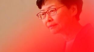 香港特首林鄭月娥面向媒體 2019年7月9日