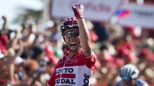 O polaco Tomasz Marczynski, da equipa Lotto Soudal, venceu a sexta etapa da Volta a Espanha.