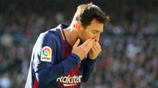 Dan wasan Barcalona da Argentina Lionel Messi.