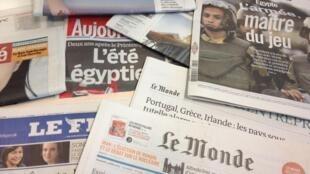 Primeiras páginas diários franceses 4/7/2013
