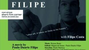 """Cartaz da curta-metragem """"Filipe"""""""