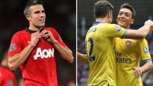 Robin van Persie na Manchester United da Mesut Ozil na Arsenal