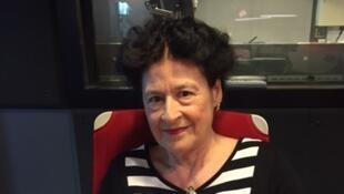 Sylvie Le Bon de Beauvoir, fille adoptive de Simone de Beauvoir, en studio à RFI (juin 2018).
