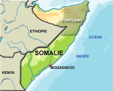 La région autonome du Puntland en Somalie.