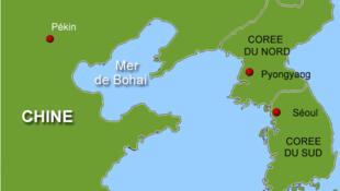 La mer de Bohai en Chine.