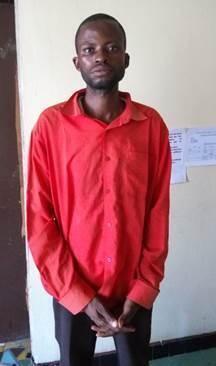 Jean Bosco Mukanda, témoin clé de l'affaire devenu principal suspect dans les locaux de l'auditorat militaire de Kananga.