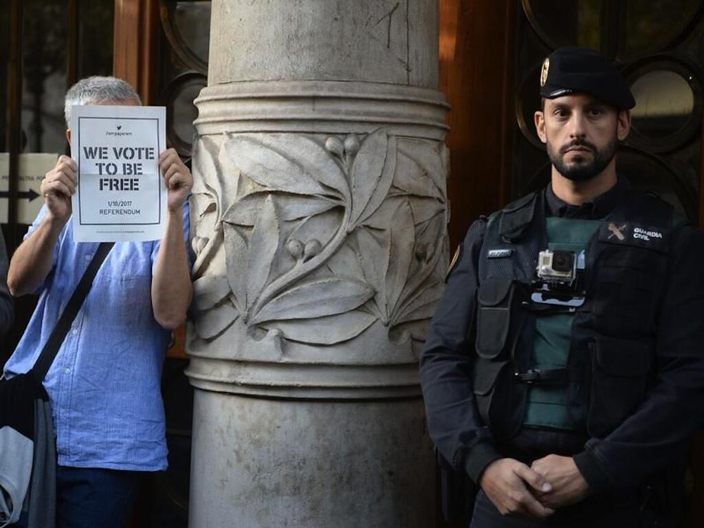 Makao makuu ya ya wizara ya Uchumi wa Serikali ya Catalonia ambapo polisi ilifanya msako Jumatano hii asubuhi.