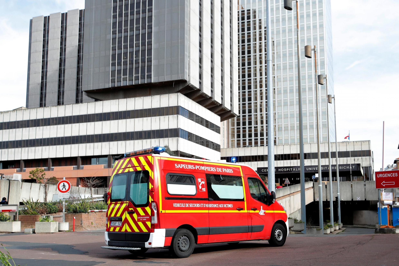 L'Hôpital Bichat, à Paris. Il accueille les premiers patients du coronavirus, en février 2020.