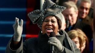 """Photo d'archives: Aretha Franklin, surnommée """"The Queen of soul"""" (""""La reine de la soul""""), s'est éteinte jeudi à l'âge de 76 ans à son domicile à Détroit."""