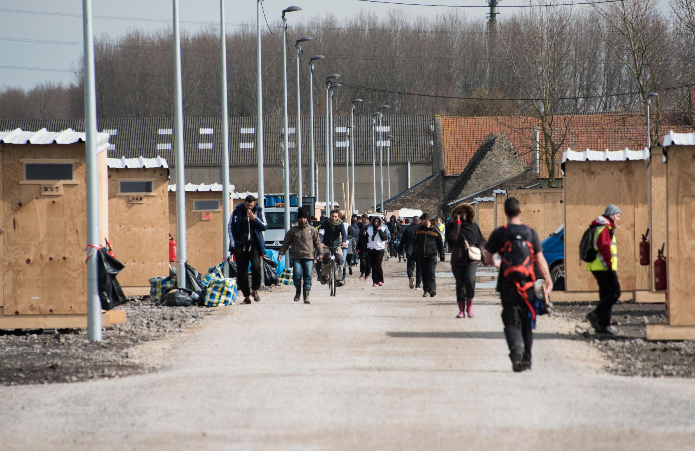 Le camp de migrants de Grande-Synthe, dans le nord de la France, le 8 mars 2016.