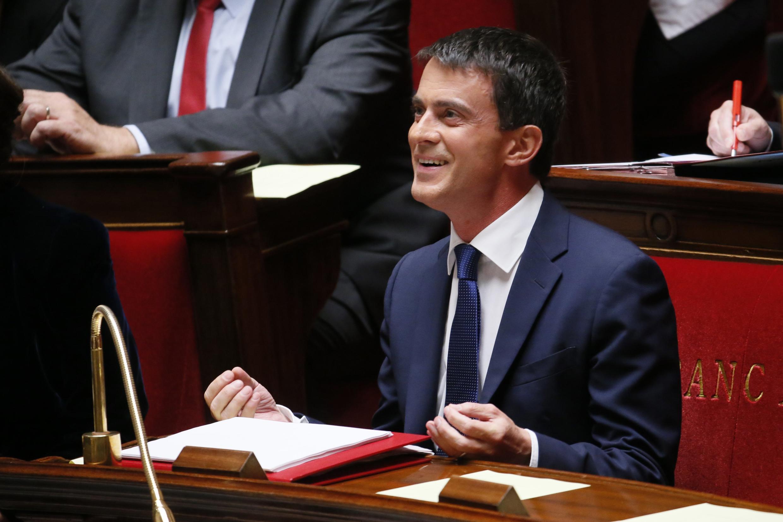 O premiê francês Manuel Valls na Assembleia Nacional nesta terça-feira