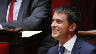 French Prime Minister Manuel Valls  at the Assemblée nationale on Tuesday
