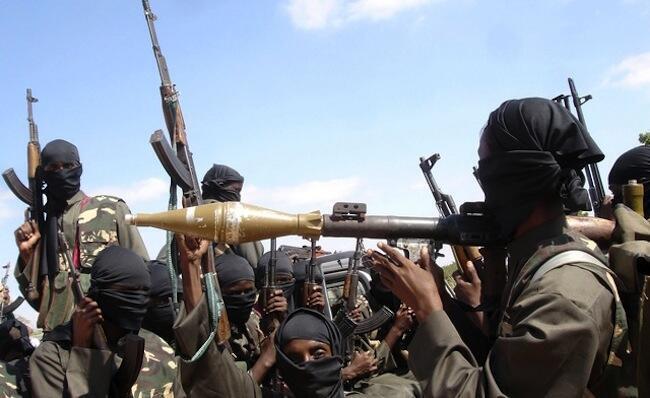 Al Shebab fighters in Somalia