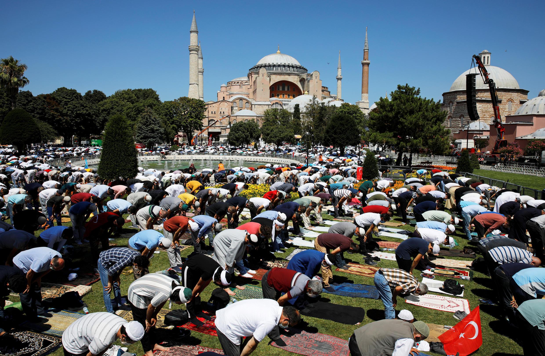 La gran mezquita Hagia Sophia de Instabul, el viernes 24 de julio de 2020.