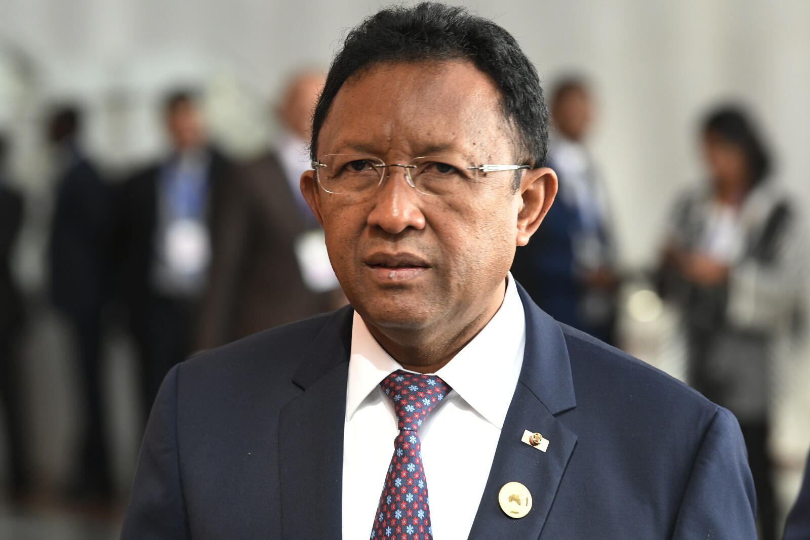 Le président malgache sortant Hery Rajaonarimampianina, le 29 janvier 2018 à Addis-Abeba.