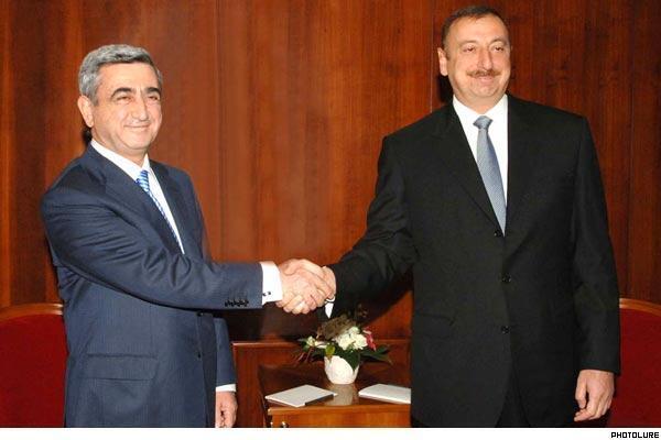 Встреча руководителей Армении и Азербайджана в России в 2008 г. (архив)