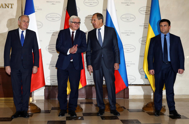 Главы МИД Франции, Германии, России и Украины, Минск, 29 ноября 2016 г.