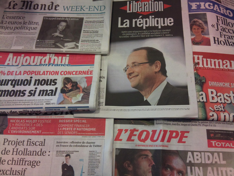 Diários franceses 16/03/2012