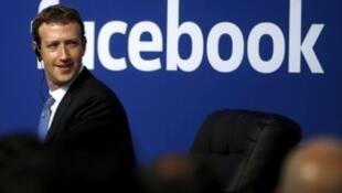 脸书创始人兼首席执行官扎克伯格资料图片