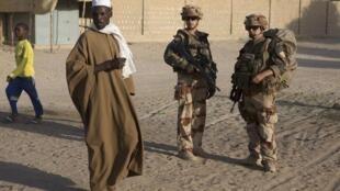 Wasu sojin Faransa a kasar Mali.