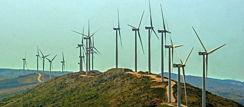 Vista del parque eólico R del Sur.
