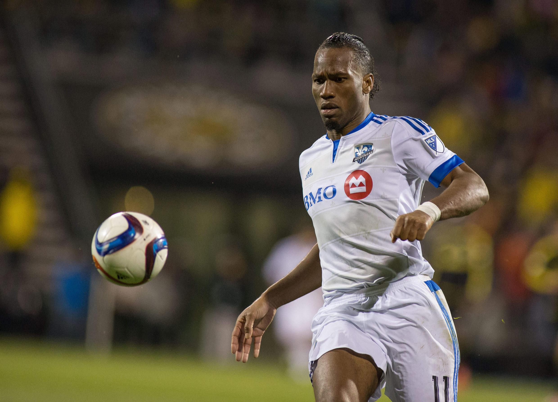 Didier Drogba wakati akiichezea klabu ya Montreal.