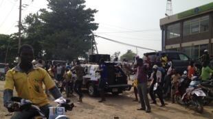Les rues de Cotonou, au Bénin, au lendemain des élections législatives, le 27 avril 2015.