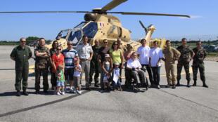 La journée organisée au profit des blessés sur la base de l'Aviation légère de l'Armée de Terre de Valence Chabeuil dans la Drôme. (GAMSTAT)