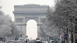 The Arc de Triomphe earlier this month