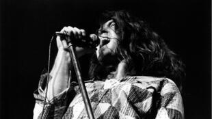 Ian Gillan, Deep Purple, à Copenhague (Danemark), en 1972.