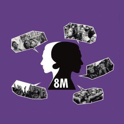 Logo de la huelga de mujeres del 8M