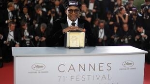 "Spike Lee at the 2018 Cannes festival, where he won the Grand Prix for ""BlacKKKlansman""."